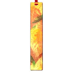 Fall Colors Leaves Pattern Large Book Marks by DanaeStudio