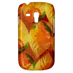 Fall Colors Leaves Pattern Samsung Galaxy S3 Mini I8190 Hardshell Case by DanaeStudio