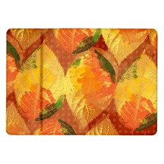 Fall Colors Leaves Pattern Samsung Galaxy Tab 10.1  P7500 Flip Case by DanaeStudio