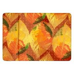 Fall Colors Leaves Pattern Samsung Galaxy Tab 8 9  P7300 Flip Case by DanaeStudio