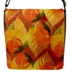 Fall Colors Leaves Pattern Flap Messenger Bag (S)