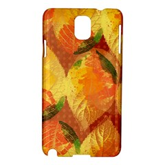 Fall Colors Leaves Pattern Samsung Galaxy Note 3 N9005 Hardshell Case by DanaeStudio