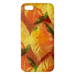 Fall Colors Leaves Pattern iPhone 5S/ SE Premium Hardshell Case