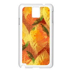 Fall Colors Leaves Pattern Samsung Galaxy Note 3 N9005 Case (white) by DanaeStudio