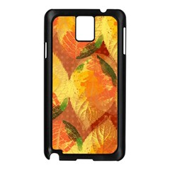 Fall Colors Leaves Pattern Samsung Galaxy Note 3 N9005 Case (black) by DanaeStudio