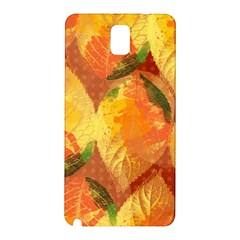 Fall Colors Leaves Pattern Samsung Galaxy Note 3 N9005 Hardshell Back Case by DanaeStudio