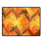 Fall Colors Leaves Pattern Double Sided Fleece Blanket (Small)