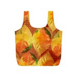 Fall Colors Leaves Pattern Full Print Recycle Bags (S)
