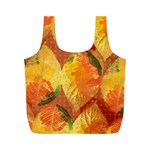 Fall Colors Leaves Pattern Full Print Recycle Bags (M)