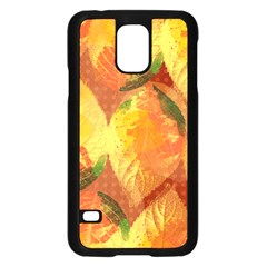 Fall Colors Leaves Pattern Samsung Galaxy S5 Case (black) by DanaeStudio