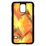 Fall Colors Leaves Pattern Samsung Galaxy S5 Case (Black)