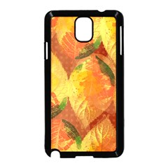 Fall Colors Leaves Pattern Samsung Galaxy Note 3 Neo Hardshell Case (black) by DanaeStudio