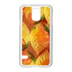 Fall Colors Leaves Pattern Samsung Galaxy S5 Case (White)