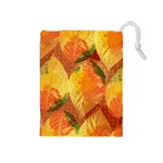 Fall Colors Leaves Pattern Drawstring Pouches (Medium)