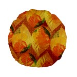 Fall Colors Leaves Pattern Standard 15  Premium Flano Round Cushions