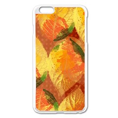 Fall Colors Leaves Pattern Apple Iphone 6 Plus/6s Plus Enamel White Case by DanaeStudio