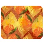 Fall Colors Leaves Pattern Double Sided Flano Blanket (Medium)