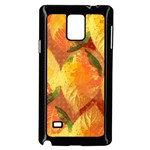 Fall Colors Leaves Pattern Samsung Galaxy Note 4 Case (Black)