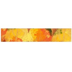 Fall Colors Leaves Pattern Flano Scarf (large)  by DanaeStudio