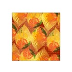 Fall Colors Leaves Pattern Satin Bandana Scarf