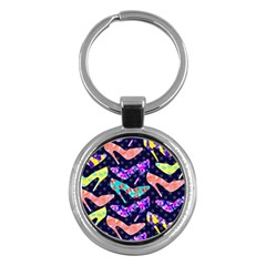 Colorful High Heels Pattern Key Chains (round)  by DanaeStudio
