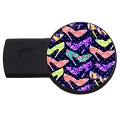 Colorful High Heels Pattern Usb Flash Drive Round (2 Gb)  by DanaeStudio