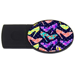Colorful High Heels Pattern Usb Flash Drive Oval (2 Gb)  by DanaeStudio