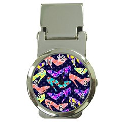 Colorful High Heels Pattern Money Clip Watches by DanaeStudio