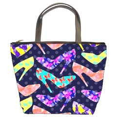 Colorful High Heels Pattern Bucket Bags by DanaeStudio