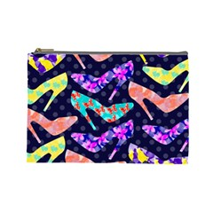 Colorful High Heels Pattern Cosmetic Bag (large)  by DanaeStudio