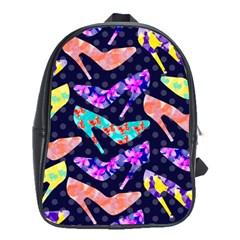Colorful High Heels Pattern School Bags(large)  by DanaeStudio