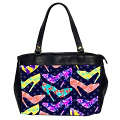 Colorful High Heels Pattern Office Handbags (2 Sides)  by DanaeStudio