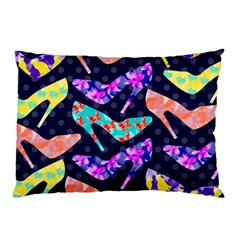 Colorful High Heels Pattern Pillow Case (two Sides) by DanaeStudio