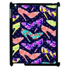 Colorful High Heels Pattern Apple Ipad 2 Case (black) by DanaeStudio