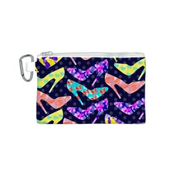 Colorful High Heels Pattern Canvas Cosmetic Bag (s) by DanaeStudio