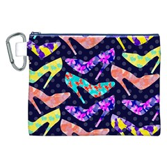 Colorful High Heels Pattern Canvas Cosmetic Bag (xxl) by DanaeStudio
