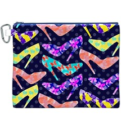 Colorful High Heels Pattern Canvas Cosmetic Bag (xxxl) by DanaeStudio