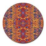 Oriental Watercolor Ornaments Kaleidoscope Mosaic Round Mousepads