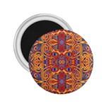 Oriental Watercolor Ornaments Kaleidoscope Mosaic 2.25  Magnets