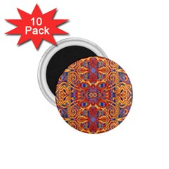 Oriental Watercolor Ornaments Kaleidoscope Mosaic 1 75  Magnets (10 Pack)  by EDDArt