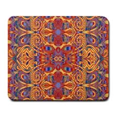 Oriental Watercolor Ornaments Kaleidoscope Mosaic Large Mousepads by EDDArt