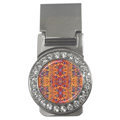 Oriental Watercolor Ornaments Kaleidoscope Mosaic Money Clips (cz)  by EDDArt
