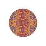 Oriental Watercolor Ornaments Kaleidoscope Mosaic Magnet 3  (Round)