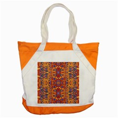 Oriental Watercolor Ornaments Kaleidoscope Mosaic Accent Tote Bag by EDDArt