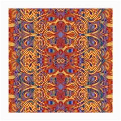 Oriental Watercolor Ornaments Kaleidoscope Mosaic Medium Glasses Cloth (2 Side) by EDDArt