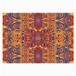Oriental Watercolor Ornaments Kaleidoscope Mosaic Large Glasses Cloth