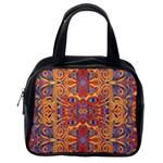 Oriental Watercolor Ornaments Kaleidoscope Mosaic Classic Handbags (One Side)