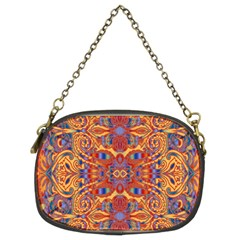 Oriental Watercolor Ornaments Kaleidoscope Mosaic Chain Purses (two Sides)  by EDDArt