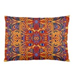 Oriental Watercolor Ornaments Kaleidoscope Mosaic Pillow Case