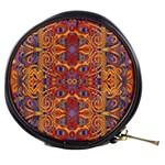 Oriental Watercolor Ornaments Kaleidoscope Mosaic Mini Makeup Bags